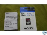 Sony High Speed Card Original 32 GB SD For Sony Cameras