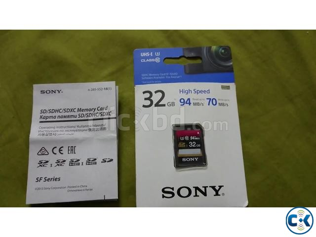 Sony High Speed Card Original 32 GB SD For Sony Cameras | ClickBD large image 0