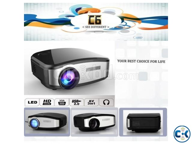 Cheerlux projector C6 mini video projector has 1200 lumens | ClickBD large image 0