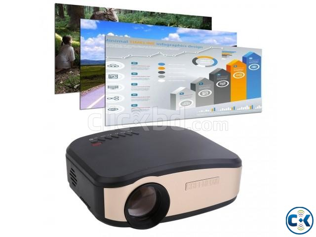 Cheerlux projector C6 mini video projector has 1200 lumens | ClickBD large image 2