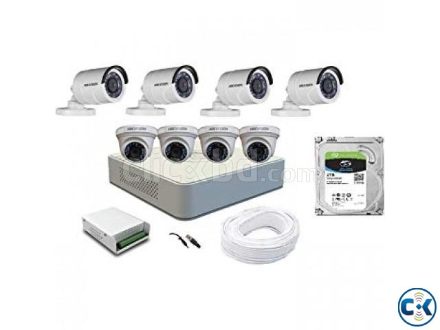 Hikvision 4 CCTV Cameras Night Vision 4Channel DVR | ClickBD large image 0