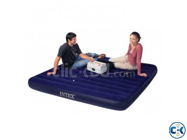 intex Double Air Bed With Electric Pumper Free | ClickBD large image 1