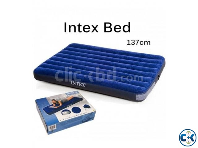 intex Double Air Bed With Electric Pumper Free | ClickBD large image 2