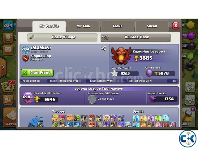 Clash of Clans Id Sell TH12 | ClickBD large image 0