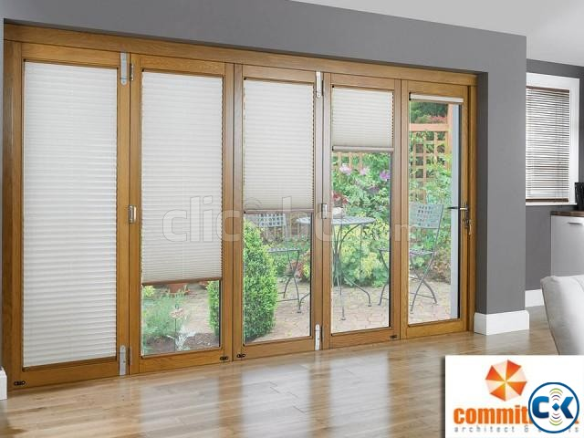 Folding Door With Colorful Door Profiles by COMMITMENT | ClickBD large image 2