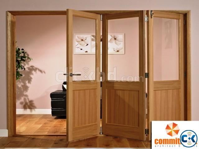 Folding Door With Colorful Door Profiles by COMMITMENT | ClickBD large image 3