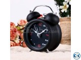 Double Bell Desk Table Alarm Clock - Black