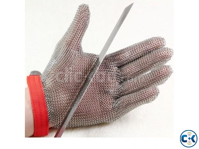 Stainless Steel Mesh Cut Resistance Hand Gloves | ClickBD large image 0