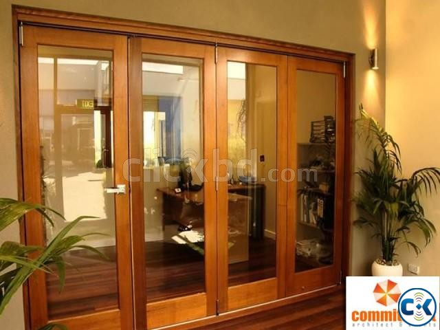 Hot sale aluminum bi folding glass door by COMMITMENT | ClickBD large image 0