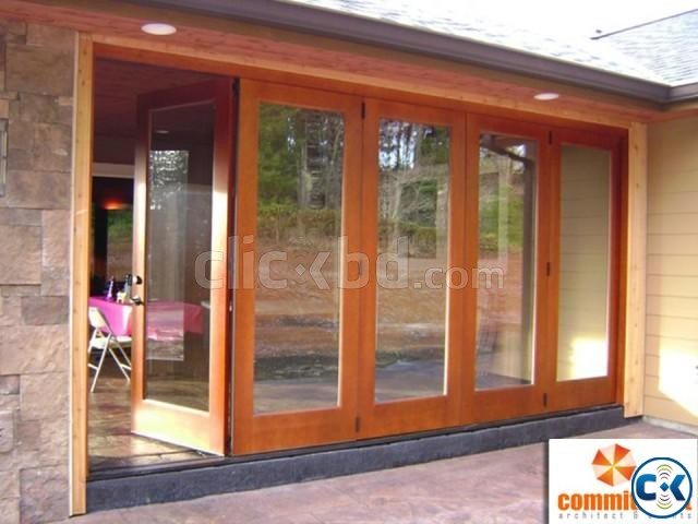 Hot sale aluminum bi folding glass door by COMMITMENT | ClickBD large image 1