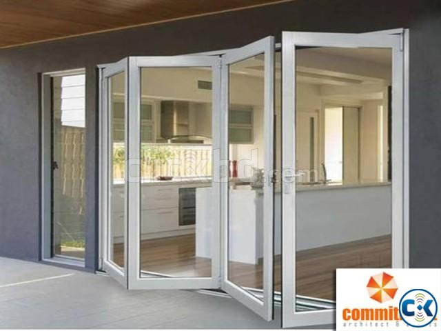 Hot sale aluminum bi folding glass door by COMMITMENT | ClickBD large image 3