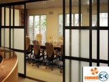 Exterior sound proof tempered glass wood door by COMMITMENT