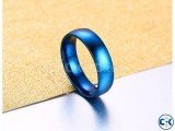 Blue Plated Finger Ring for Men