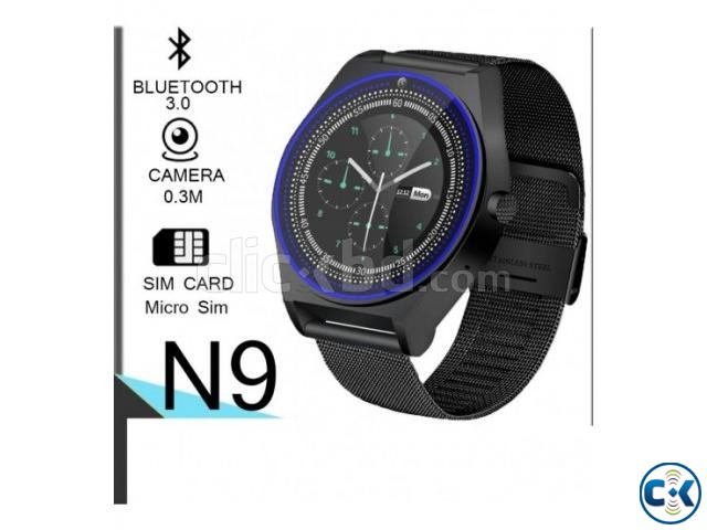 N9 Smart Mobile Watch Sim Supported Metal Body Pedometer | ClickBD large image 0