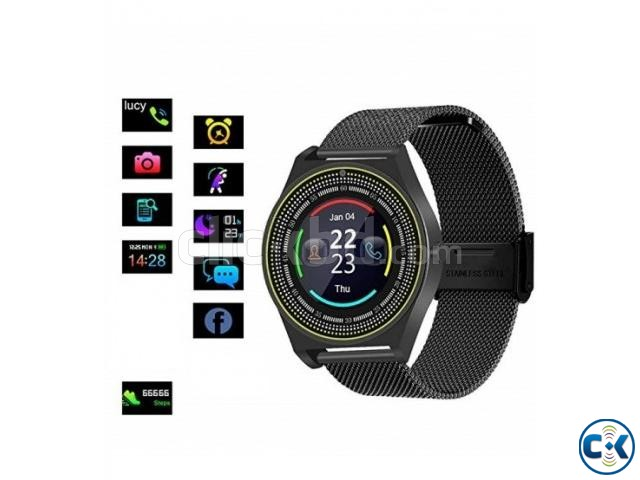 N9 Smart Mobile Watch Sim Supported Metal Body Pedometer | ClickBD large image 2
