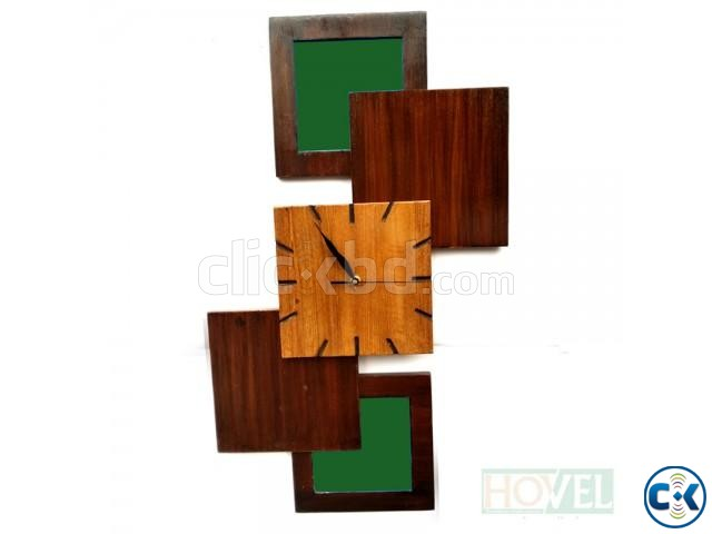 Design Five Wooden Wall Clock | ClickBD large image 1