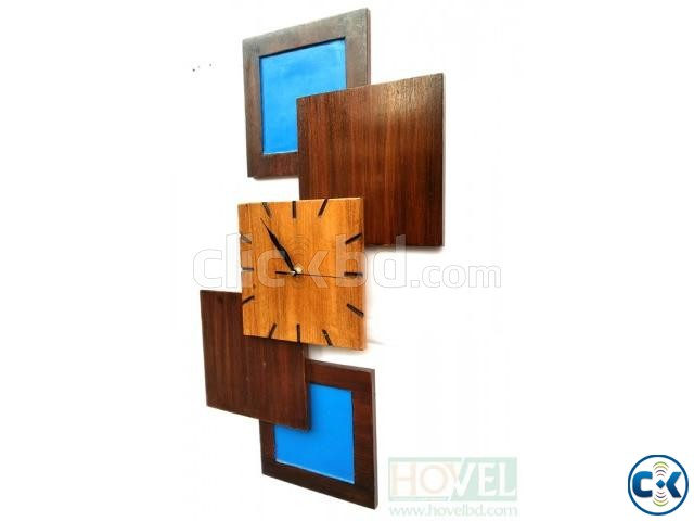 Design Five Wooden Wall Clock | ClickBD large image 2