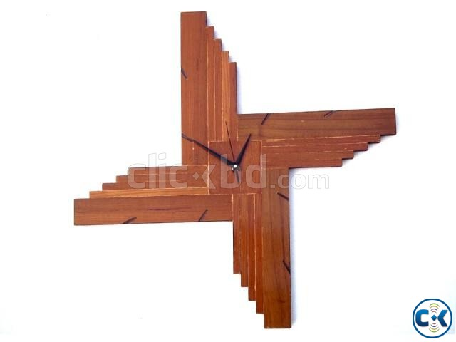 Star Design Wooden Wall Clock | ClickBD large image 0