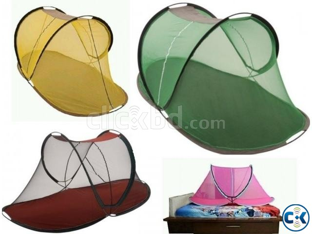 Mosquito Net Foldable Single Adult Automatic Free standing | ClickBD large image 0