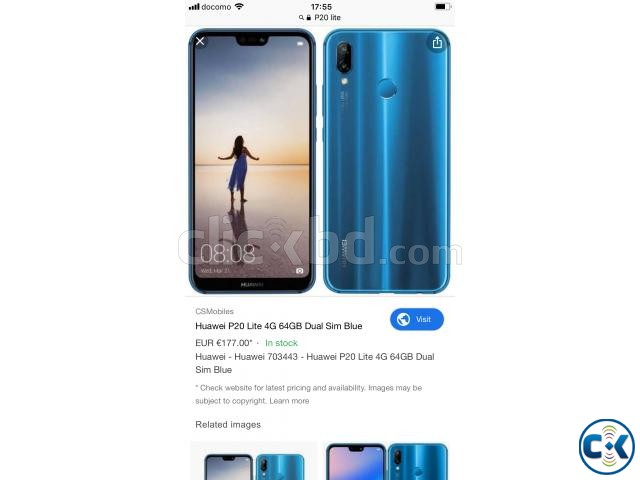 Huawei P20 lite 32GB New Form Japan | ClickBD large image 0