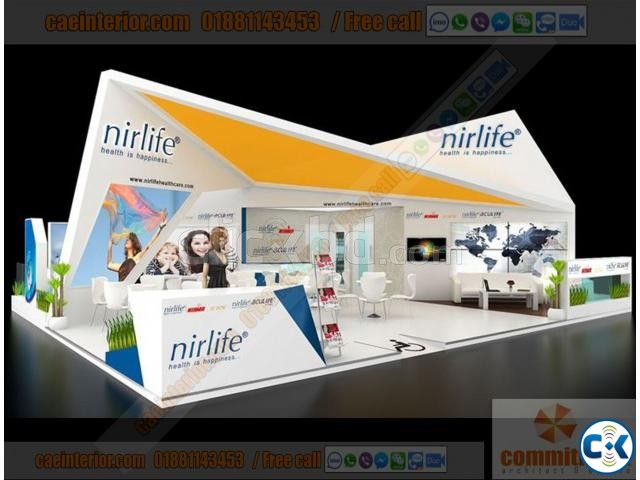 Exhibition Stall Fabrication Kiosk Pavilion Trade Fair Stall | ClickBD large image 0