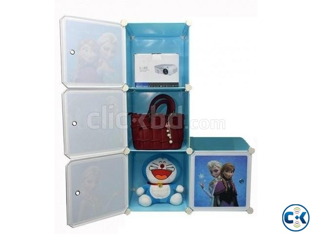 DIY Storage Cartoon Almirah Cabinet Kids Wardrobe | ClickBD large image 0