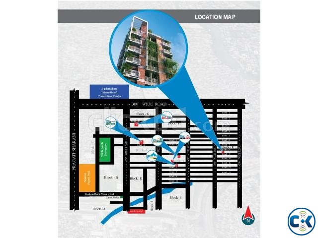 1265 2530 sft flat sale at Bashudhra R A | ClickBD large image 2