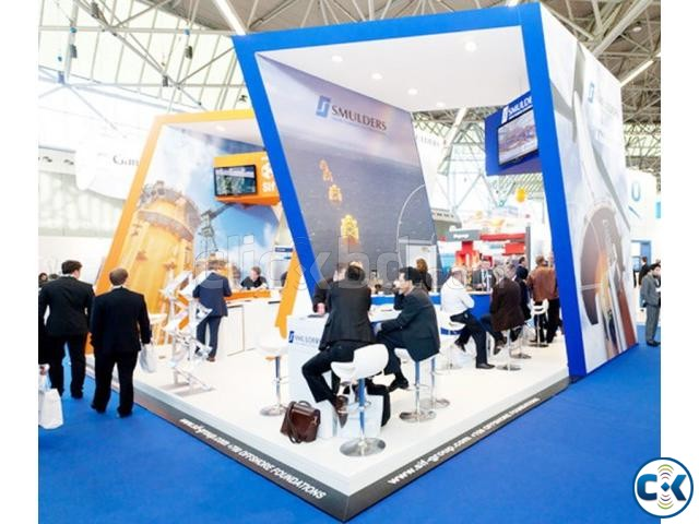 Exhibition Stall Fabrication Kiosk Pavilion Trade Fair Stall | ClickBD large image 2