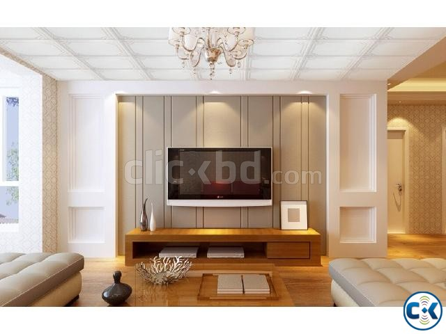 Kitchen Wall Cabinet False Ceiling TV wall 3D Modeling | ClickBD large image 3