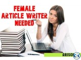 Monthly Salary Based Online English Article Writer Female