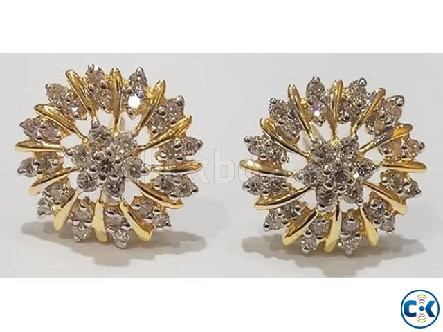Diamond with Gold Earring 40 OFF | ClickBD large image 0