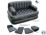 5 in 1 Inflatable Double Air Bed Sofa cum Chair intact Box