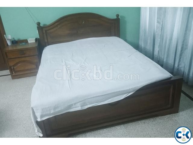 Segun Wood Made Master Bed For Sale | ClickBD large image 1