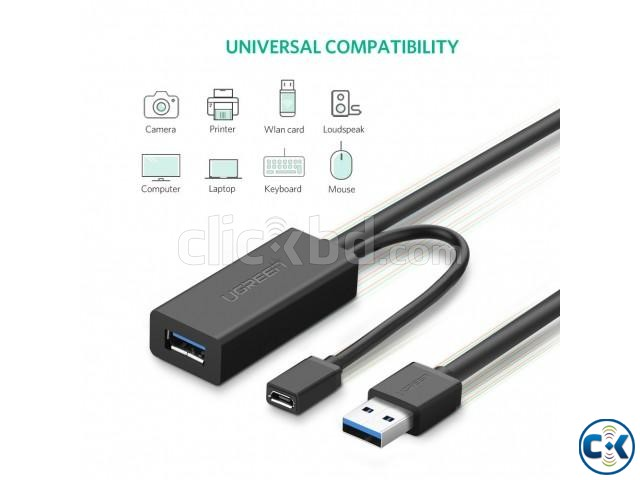 UGREEN USB 3.0 Active Extension Cable Repeater Cable | ClickBD large image 0