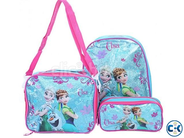 Frozen Backpack Kids School Bag Set | ClickBD large image 0