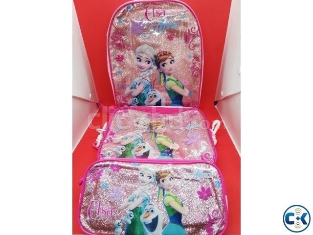 Frozen Backpack Kids School Bag Set | ClickBD large image 1