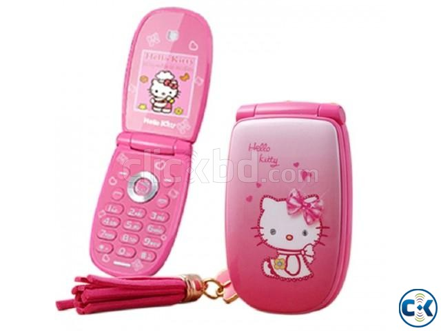 Hello Kitty W88 Mini Folding Phone | ClickBD large image 0