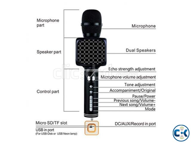 Karaoke Wireless Bluetooth Microphone Speaker Best Quality | ClickBD large image 0