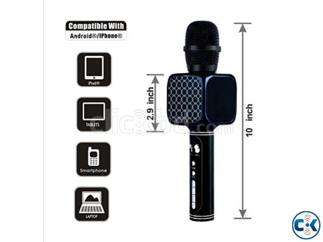 Karaoke Wireless Bluetooth Microphone Speaker Best Quality | ClickBD large image 1