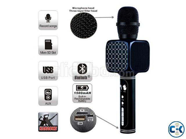 Karaoke Wireless Bluetooth Microphone Speaker Best Quality | ClickBD large image 2
