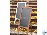 Black board with stand and color chalks