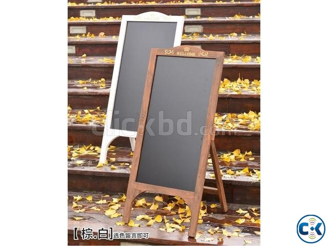 Black board with stand and color chalks | ClickBD large image 0