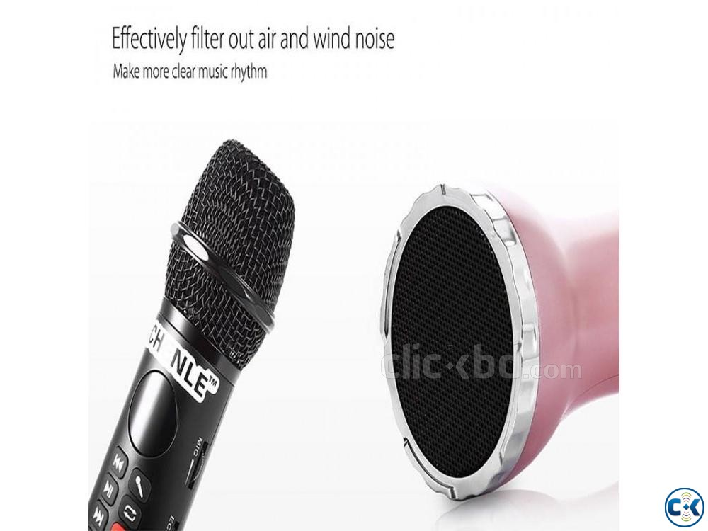 L-598 Wireless Microphone Handheld Karaoke Bluetooth Speaker | ClickBD large image 2