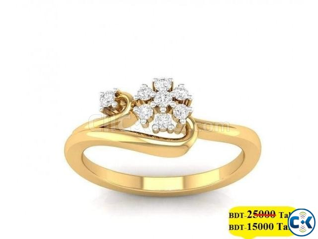 Diamond with Gold Ring 40 OFF | ClickBD large image 0