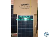 Luminnous solar panel made in India