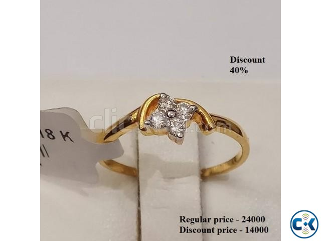 Diamond with Gold Ring 40 OFF | ClickBD large image 1