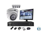 4 Channel CCTV System full Package with 17 LED Monitor