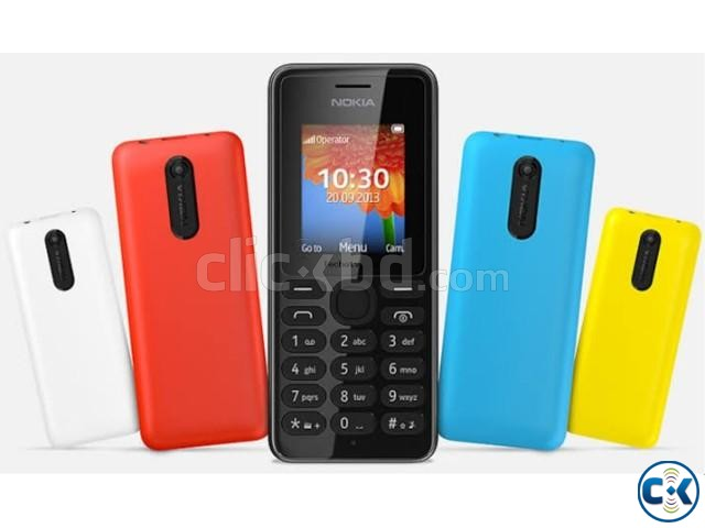 New Nokia Asha 108 2 sim Full Box | ClickBD large image 0