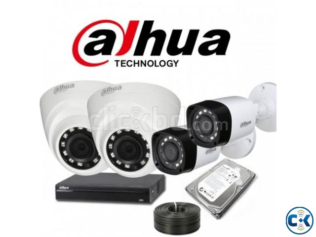 Dahua 1080p 2mp 4 CCTV Cameras Night Vision 4Channel DVR | ClickBD large image 0