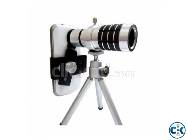 Universal 12X Zoom Telescope Mobile Phone Lens | ClickBD large image 0